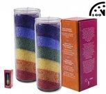 Regenboog-stearinekaars-geurloos
