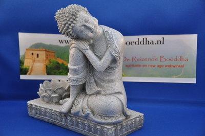 Boeddha met lotus waxine lichtje