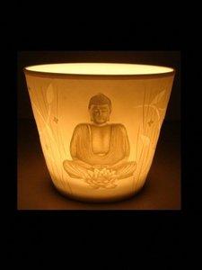 Votieflicht porselein Boeddha